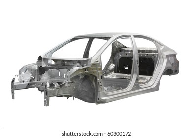 body of a car under the white background
