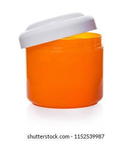body care product in a jar on white isolated background