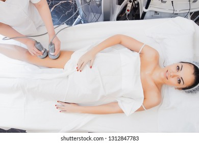 Body care. Ultrasound cavitation body contouring treatment. Radiofrequency therapy. Active thermolysis. lifting. Body massage with bipolar radio frequencies