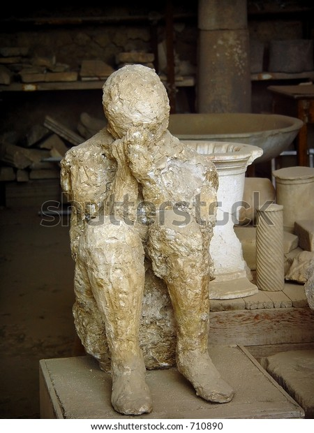 Body Cast Woman Hiding Her Face Stock Photo (Edit Now) 710890