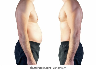 body of man between fat and thin