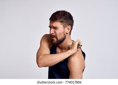 body massage, man