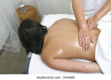 body massage at the spa