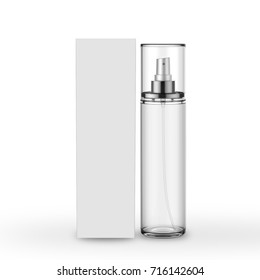 Body Mist Mock Up On Isolated White Background, Ready For Your Design, 3D Illustrarion