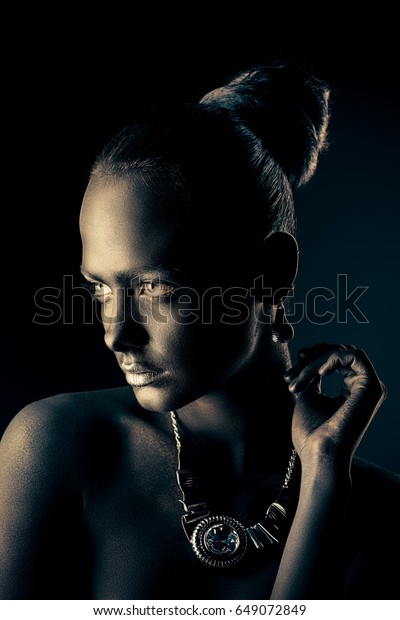 Body Painting Project Portrait Gorgeous Young Stock Photo Edit Now 649072849