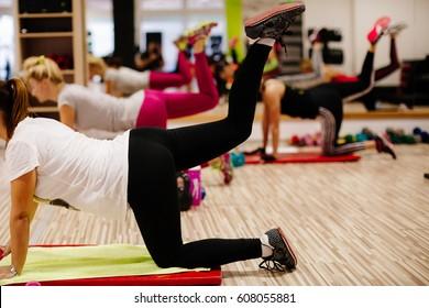 body sculpting training. Women strength training class.