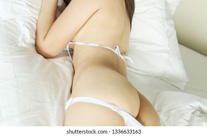 Body of sexy fit woman in erotic lingerie