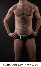 Body Shot Hairy Male