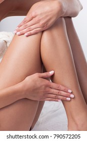 Body and skin care. Isolated parts of the female body.
