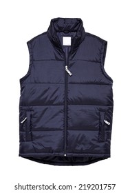 body warmer blue isolated on white