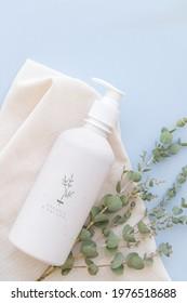 Body wash bottle mockup design