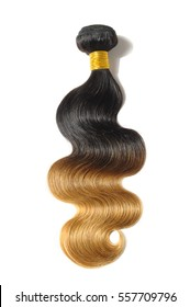 body wave black to blonde two tone ombre dip-dye human hair weave bundles extensions