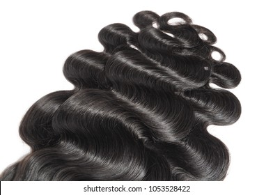 Body wave black human hair weaves extensions bundles