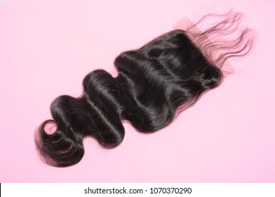 body wave black human hair weaves extensions lace closure