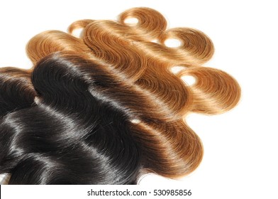 body wave black to strawberry blonde ombre dip dye human hair weave bundles extensions