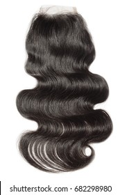 Body wave black virgin human hair extensions lace closure