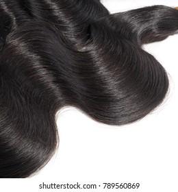 Body wave black virgin remy human hair weave extensions bundles