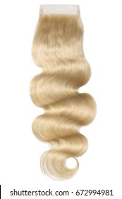 Body wave silky blonde  virgin human hair extensions lace closure