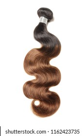 Body wave two tone ombre style black with dyed brown human hair weaves extensions bundles