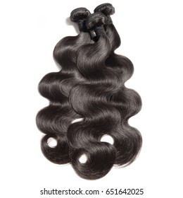 Body wave virgin remy black human hair weave bundles extensions