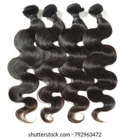 Body wave virgin remy black human hair weaves extensions bundles