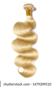 body wave wavy bleached blonde human hair weaves extensions bundles