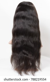 Body wavy black human hair made wigs