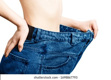 body weight loss isolated on a white background