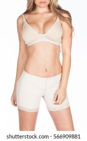 Body woman in underwear, girdle