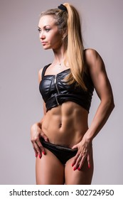 The body of a young athletic girl