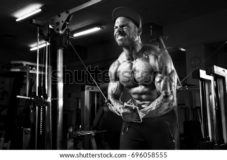 Bodybuilder Hard Workout For Chest Muscles