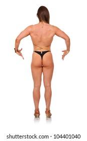 Bodybuilder. Mandatory poses.