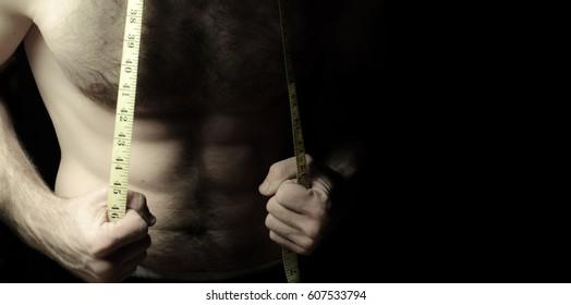 bodybuilder with meter