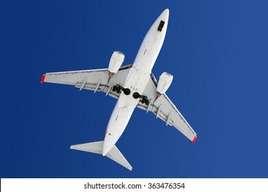 Boeing 737 modern civil airplane.