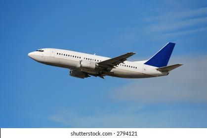 Boeing 737 passenger jet in flight