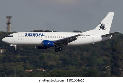 Boeing 737-400 of Sideral Cargo at GRU Airport - Guarulhos International Airport, Sao Paulo, Brazil - May/18
