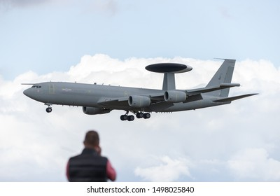 Boeing E3 Sentry on approach to RAF Waddington seen on 4th September 2019