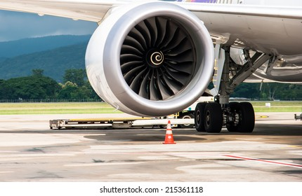 Boeing jet engine.