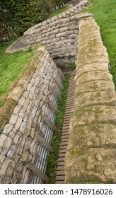 Boezinge, Belgium, 09/10/2017.Yorkshire Trenches, the preserved trenches, once ;ost and rediscovered and kept as a memorial. Views of the trenches and entrance to lower quarters