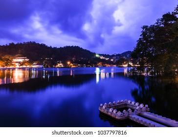 Bogambara Lake Kandy at Night