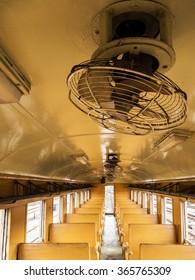 In bogie of old railway wagon.