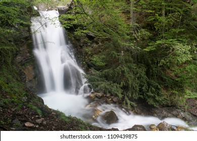 Bogomila falls, babuna spring, near Solunska Glava and Nezhilovo found on the Babuna river in Macedonia. Soft focus, noise and blur are a part of the image.