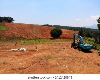 BOGOR, INDONESIA - APRIL 7 2019 : Land clearing for agrobusiness site