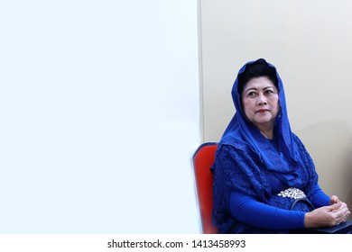 Bogor, West Java / Indonesia - February 17, 2017 : The 6th Indonesian First Lady Ani Yudhoyono