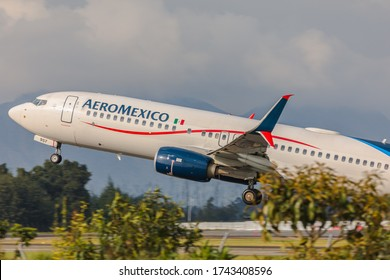 Bogota, Colombia - February 26, 2020: Aeromexico will gradually restart flights after June 1st to The United States, Canada, The Caribbean, and South America