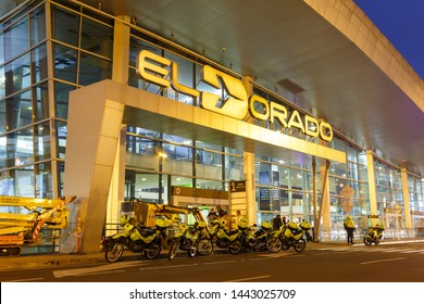 Bogota, Colombia – January 30, 2019: Terminal of Bogota airport (BOG) in Colombia.