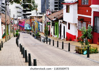 BOGOTA, COLOMBIA, JULY 28, 2018: Architecture of Bogota, Colombia, South America
