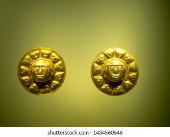 Bogota, Colombia - November 23, 2018: Exhibit  in Museum of Gold.