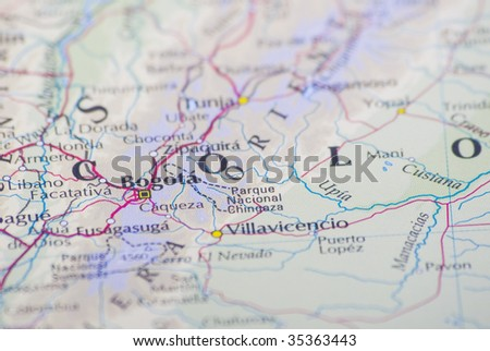 Bogota Colombia On Worlds Map Stock Photo (Edit Now) 35363443 ...