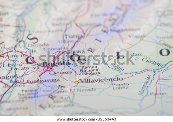 Bogota Colombia On Worlds Map Stock Image | Download Now